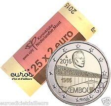 Rouleau 2 euros Luxembourg 2016 - 50 ans du Pont de la Grande Duchesse Charlotte