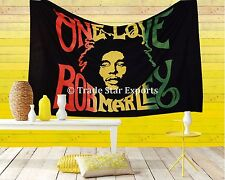 Bob Marley One Love Tapestry Indian Hippie Wall Art Ethnic Cotton Twin Bedspread