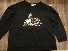 Vintage 1999 Warner Bros Studio Store Cartoon Network Loony Toons Sweatshirt L