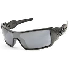 Oakley Oil Rig OO9081 24-058 Black Ghost Text/Black Iridium Men's Sunglasses