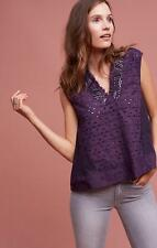 Anthropologie Purple Eyelet & Silver Cadiz Top by Akemi + Kin Size S NwT $78.00