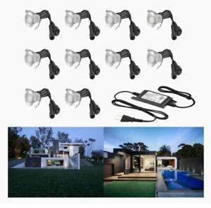 Deck Lights Kit 10 Pack Low Voltage IP67 LED Waterproof-Outdoor-Black FVTLED