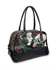 Liquor Brand Diamond Gypsy Skull Tattoo Punk Gothic Duffle Bowling Overnight Bag