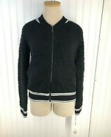 Women's Bomber Jacket Sweater - A New Day Black Size XS S M NEW