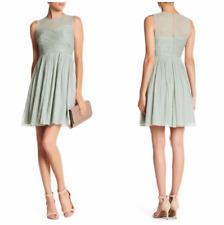 NEW Womens J.Crew Clara Chiffon Dusty Shale Dress, Petite Size 4P