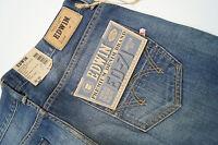 EDWIN Herren Men Jeans Hose slim 30/32 W30 L32 stone wash blau knopfleiste NEU*