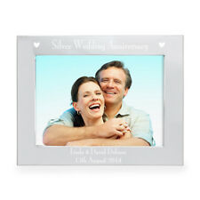 Personalised Engraved S/Plated Landscape Photo Frame 6 x 4 Anniversary Gift