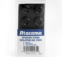Atacama Isolation Gel Pads For All Speaker Loudspeaker Stands  Pack of 8 - Black