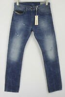 RRP £109 DIESEL THAVAR 0663E Men's W27/L30 Slim Skinny Ripped Blue Jeans 7180*mm