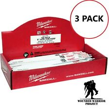 WWP Milwaukee 48-01-7187 9 in. x 14 TPI Thin Kerf Sawzall Blades (3 piece set)