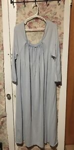 Nightgown Long Sleeves 100% Cotton Size Large