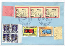 KK318 1971 GB FRANCE STRIKE POST Richmond Kew Gardens Cover PARIS POSTAL MUSEUM