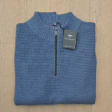 FYNCH HATTON Zip-Pullover Herrenpullover Herren Premium Cotton Zip Gr. M UVP109€