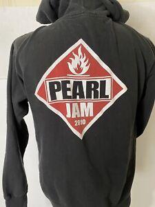 pearl jam Tour hoodie Medium 2010 Black Zip Up