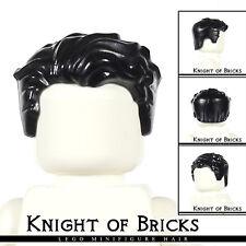 LEGO Minifigure Hair BLACK 23186 Male Short Swept Left Tousled