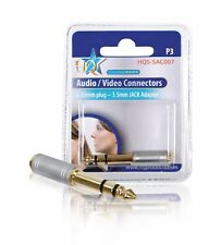 HQ 6.35mm Jack to 3.5mm Socket Adapter 24K gold plated audio converter