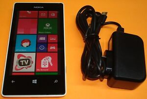 White Nokia Lumia 521 T-Mobile Windows 8 4G Smartphone Works Great FREE SHIPPING