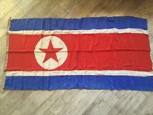 Rare !!!! Socialist Korea Flag USSR Navy Fleet Original Wool Soviet silk