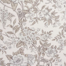 Flower Wallpaper Floral Monkey Trees Jungle Leaves Sumatra Cream Brown Holden