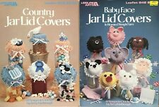 New ListingLot of 2 New-Leisure Arts-6 Baby & 8 Country Jar Lid Covers-Crochet Patterns