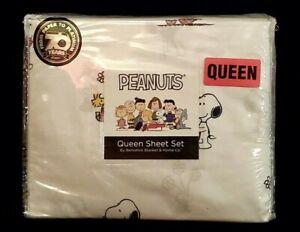"New ""Peanuts-Snoopy & Woodstock Queen Sheet Set Berkshire Blanket & Home Co."""