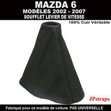 MAZDA 6  SOUFFLET LEVIER DE VITESSE 2003 - 2009  CUIR NOIR 100%