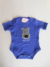 New Infant One Piece Blue  Fuzzy Puppy Dog Size 0-6 Mo by North American Bear