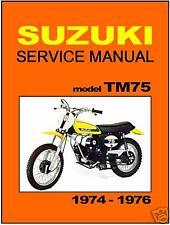 SUZUKI Workshop Manual TM75 1974 1975 and 1976 VMX Service and Repair