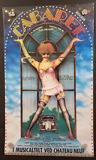 "Original CABARET Musical Poster - SWEDAN 38.5"" X 23"" GORGEOUS!!!"