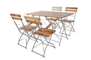 Biergarten Garnitur Stuhl Tisch Bistro Garten Set Gastronomie klappbar Holz