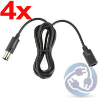 LOT 4X Controller Extension Adapter Cable Cord for Nintendo Gamecube Wii NGC 6ft