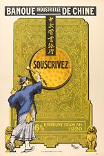 Affiche Originale Finance - Géo Duval - Banque Industrielle de Chine - Gong 1920