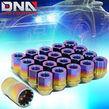 NRG LN-T210MC-21 16PCS 27MM TITANIUM OPEN END LUG NUT W/4 LOCK +ADAPTER M12X1.25