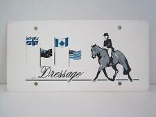 VTG English Dressage Horse Sign Novelty Plate Car Truck Trailer Barn Plaque