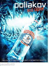 Publicite ADVERTISING 086 2012 vodka polakow blue lagoon