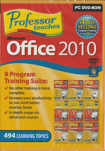 Professor Teaches Microsoft Office 2010 (PC) with 9 Separate Courses on 1 DVDrom