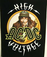 "AC/DC RÜCKENAUFNÄHER / BACKPATCH # 6 ""HIGH VOLTAGE - ANGUS YOUNG"""