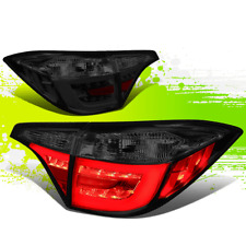 2PC SMOKED LENS LED DRL LIGHT BAR INNER+OUTER TAIL LAMP FOR 14-18 TOYOTA COROLLA