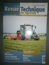 Fendt tracteur 300 Vario - 309 310 311 312 : revue technique RTMA 200