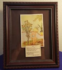 1934 Framed WILLY POGANY Book Plate MUD Art Print w Poem
