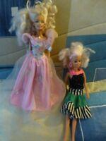 lot poupées mannequin  totsy 1987 et barbie  bien habillées