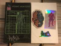 NIGHT HUNTERS #1 + STICKERS ALEXIS ZIRITT HOT ARTIST SIGNED 2020 space riders