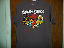 ANGRY BIRDS GRAY SIZE MEDIUM T SHIRT