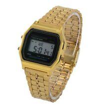Hommes / Femmes Acier Inoxydable LCD Digital Sport Chronomètre Montre Bracelet