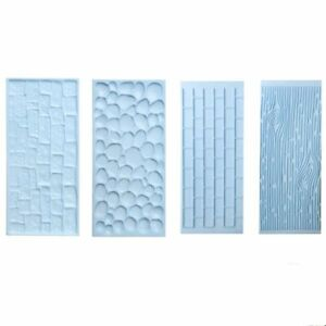 Cobble & Stone Brick Wall Bark Grain Impression Mat Cake Emboss Fondant Icing