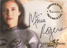 """Lost In Space Movie - A-1 Mimi Rogers """"Prof Maureen Robinson"""" Autograph Card"""