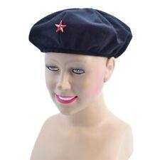 Black Revolutionist Beret Hat - Fancy Dress Che Guevara Cuban Accessory