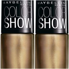 Pack of 2 Maybelline Color Show Nail Enamel Bold Gold 6 ml Each Free Shipping