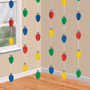 Christmas Lights Hanging String Decorations x 6