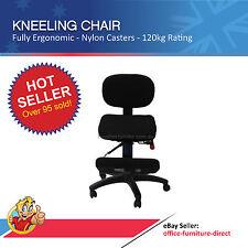 Kneeling Chairs, Ergonomic Office Kneel Stool Chair Desk, Back Rest, Knee pad